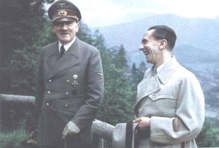 Hitler and Goebbels brightened